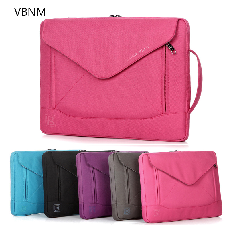 "Laptop Bag Waterproof Notebook Bag 15/"" Macbook Air Pro Sleeve Briefcase Unisex"