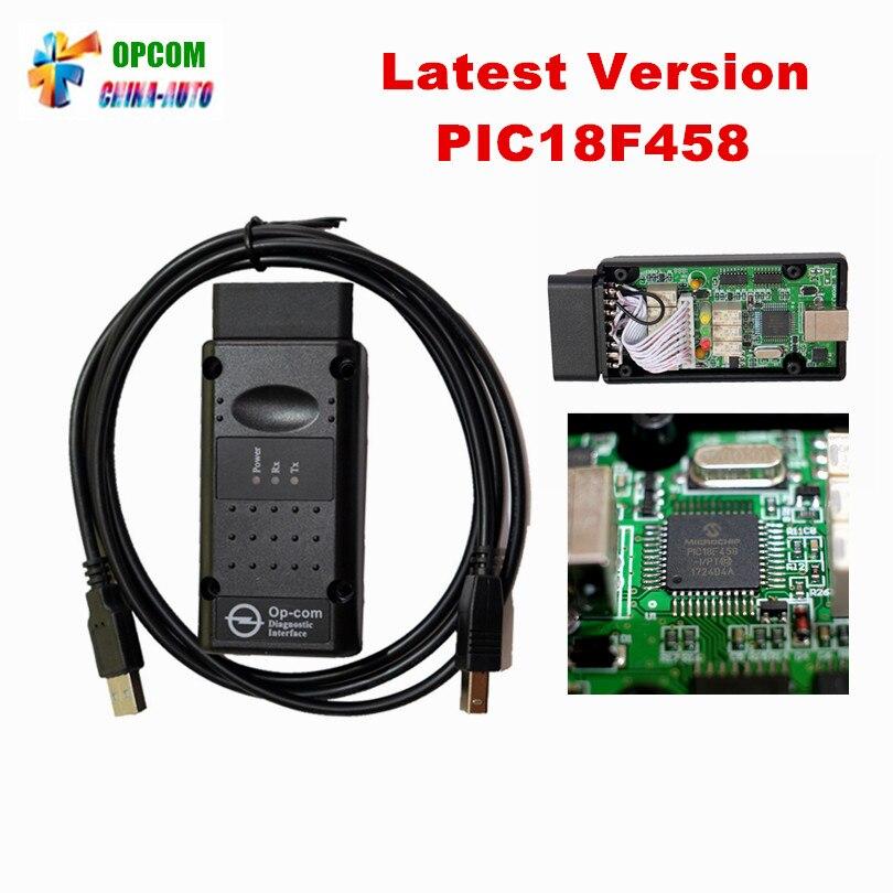 Plus récent V1.95 OPCOM V1.95 avec PIC18F458 puce OP-COM obd2 scanner diagnostique op com