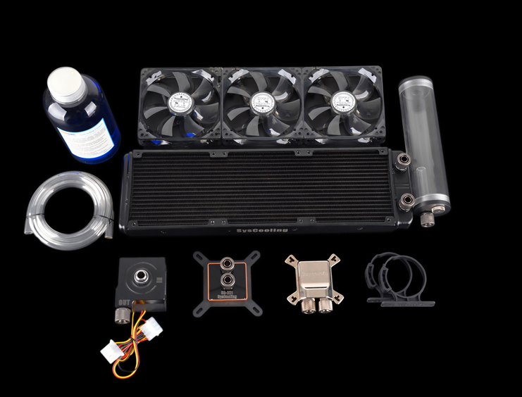 все цены на Syscooling high performance cooling system computer cpu and gpu water cooling kit онлайн