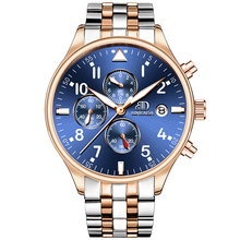 relogio masculino BINKADA Mens Watches Top Brand Luxury Fashion Business Quartz Watch Men Sport Full Steel