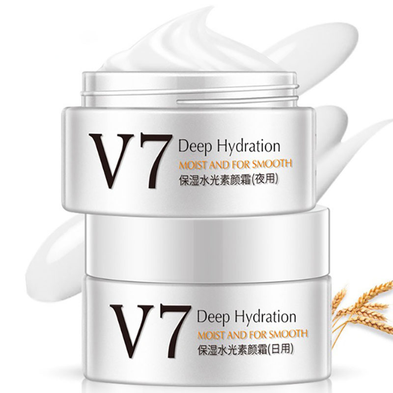 New V7 Face Cream Lazy Nude Make-Up Face Invisible Cover Flaw Whitening And Brighten Cream Moisturizing Oil Control Skin Care