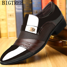 Italian Loafers Men Shoes Wedding Oxford Shoes
