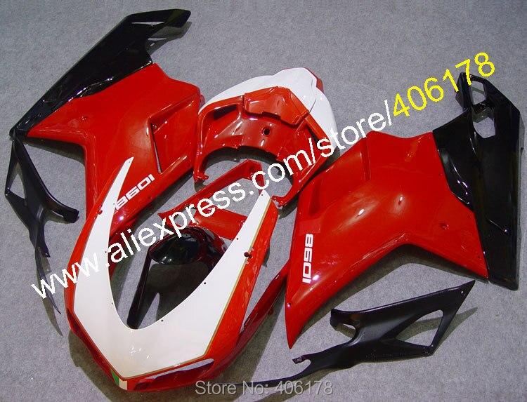 Hot Sales,Fairing kit For Ducati 848 1098 1198 1098S 07-11 2007 2008 2009 2010 2011 Bodypart Bodyfairing (Injection molding)