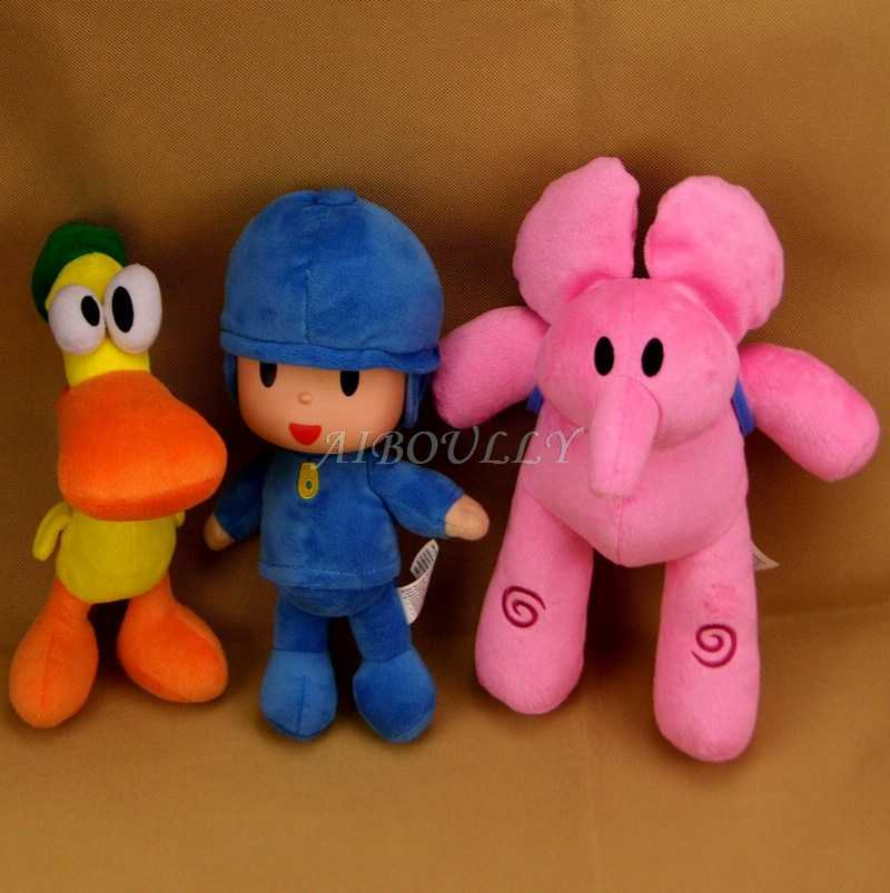 15-28 centímetros Brinquedos Pocoyo Elly pato Loula Pocoyo Recheado Animal de Pelúcia Brinquedo Brinquedos para Crianças Presente de Aniversário