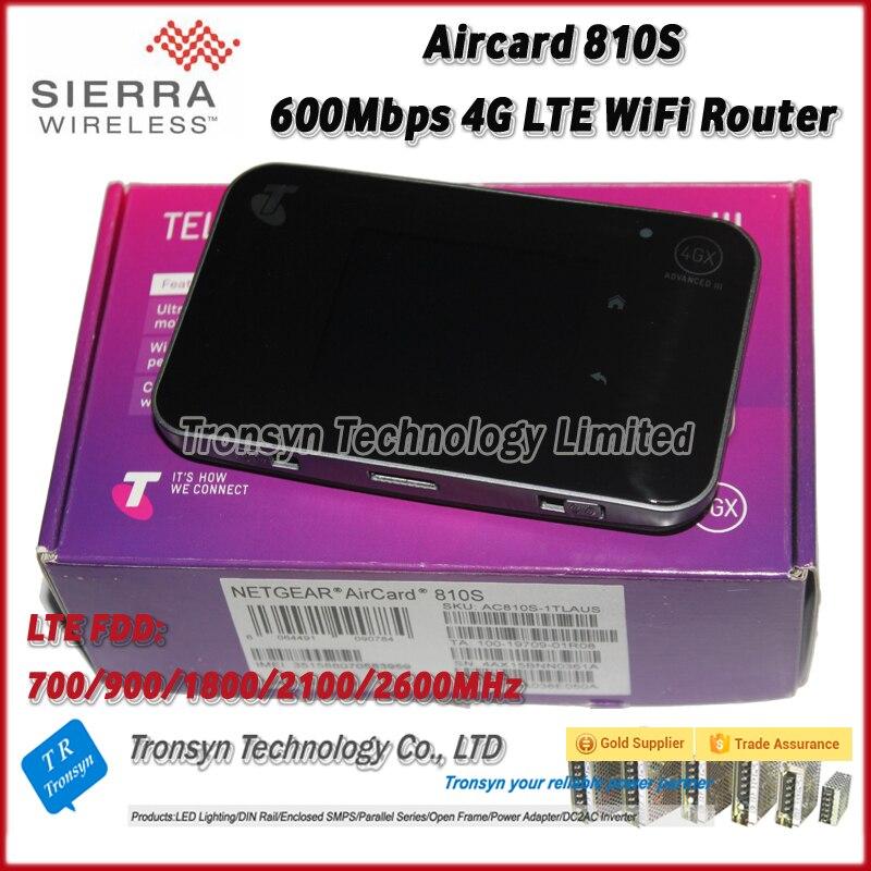 Nouvelle Arrivée D'origine Unlocked Netgear 600 Mbps Aircard AC810S 4G LTE Cat11 Mobile Hotspot Soutien LTE FDD B1 B3 B7 B8 B28