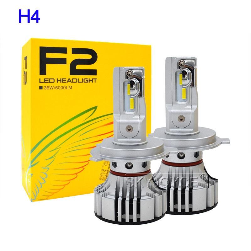 SKYJOYCE New H4 F2 LED Car Headlight Bulb Kit H7 H1 HB3 9005 HB4 9006 72W 12000LM CSP Chips 6500K White H11 LED Fog Lamp Bulbs (16)