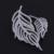Marca de luxo Top Quality CZ Zircon Cristal Definir Platinadas Frente para Trás a Folha Forma Brincos de Penas