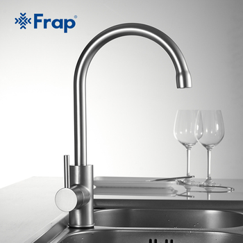 Frap Kitchen Faucet 360 Degree Rotation Curved Outlet Pipe Tap Basin Plumbing Hardware kitchen Sink water mixer faucets - discount item  47% OFF Kitchen Fixture
