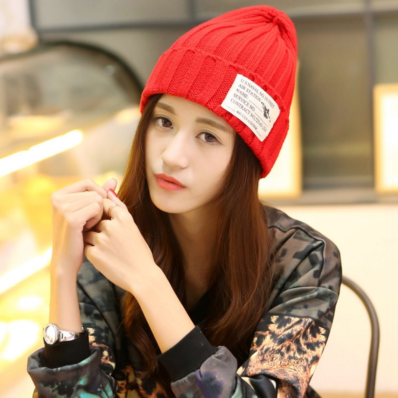 Ladies Winter Hat For Women Girl 's Hat Knitted Beanies Cap Brand New Thick Female Ski Sports Warm Cap Cute Solid Outdoor Hats skullies new arrival warm winter female knitted hat hedging interior plus fluff lines thick line twist cap cute hat 1866934