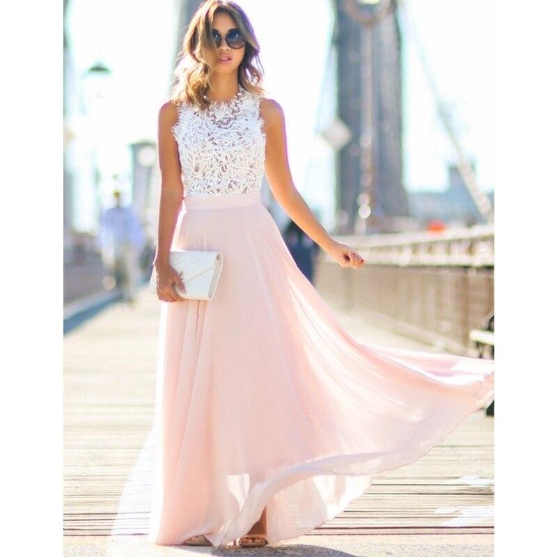 2018 Womens Sexy Elegante Maxi Flor Vestido de Renda vestido de festa Vestido Sem Costas Moda Pageant Princess Party Formal Vestido Longo
