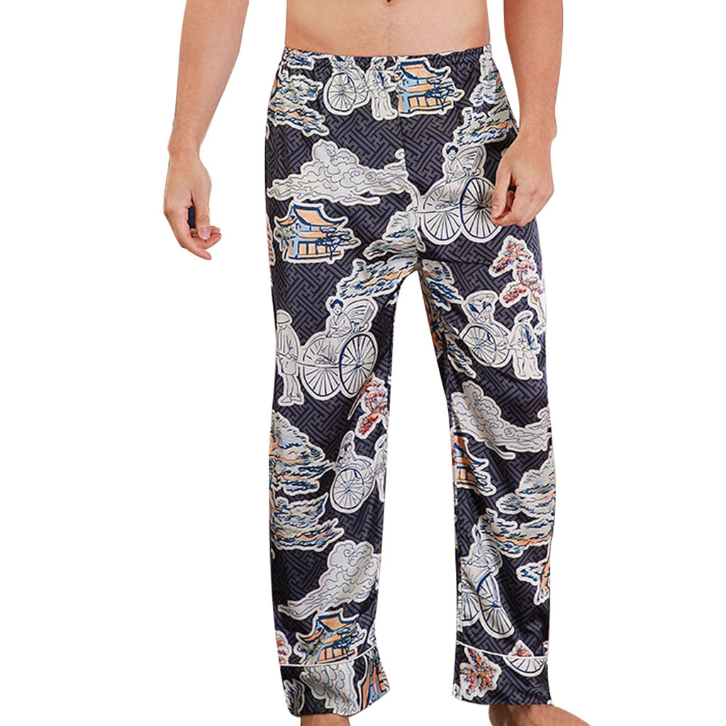 Sleepwear Men Candice Pajama-Set Silk Men's 2 Stain Tony Hombre