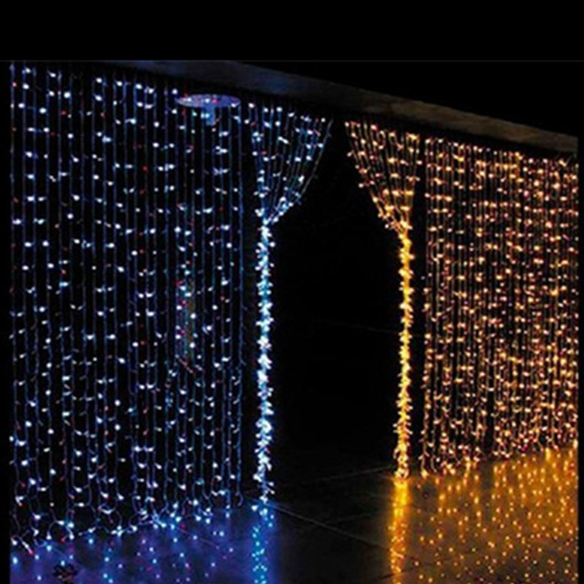 2015 wholesale 3mx3m 300 led net string light curtain lamp for 160 net christmas decoration lights clear