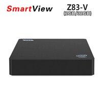 Vontar Mini PC Z83 V Intel Cherry Trail Atom x5 Z8350 Windows10 и linux Z83V 2 ГБ 32 ГБ HDMI и VGA двойной выход Bluetooth4.0 USD3.0