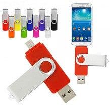 Colorful Rotated OTG Smart Flash pen drive 32GB 8GB16G 64G 4GB OTG memory stick micro usb flash driver for smart phone tablet