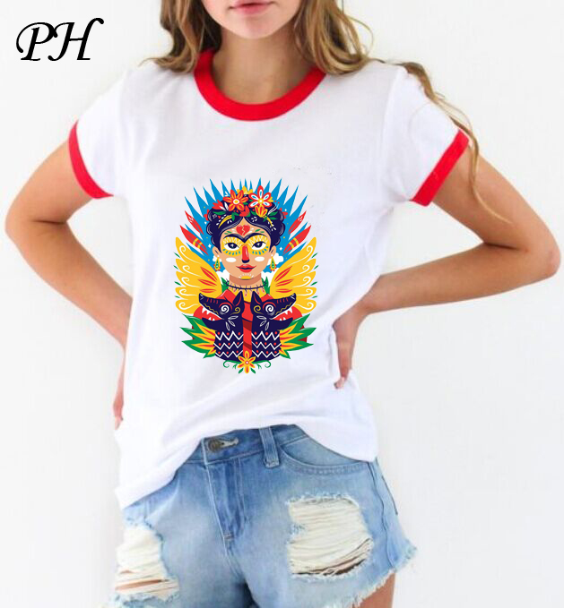 pyhenph new t shirt for women frida kahlo print t shirt. Black Bedroom Furniture Sets. Home Design Ideas