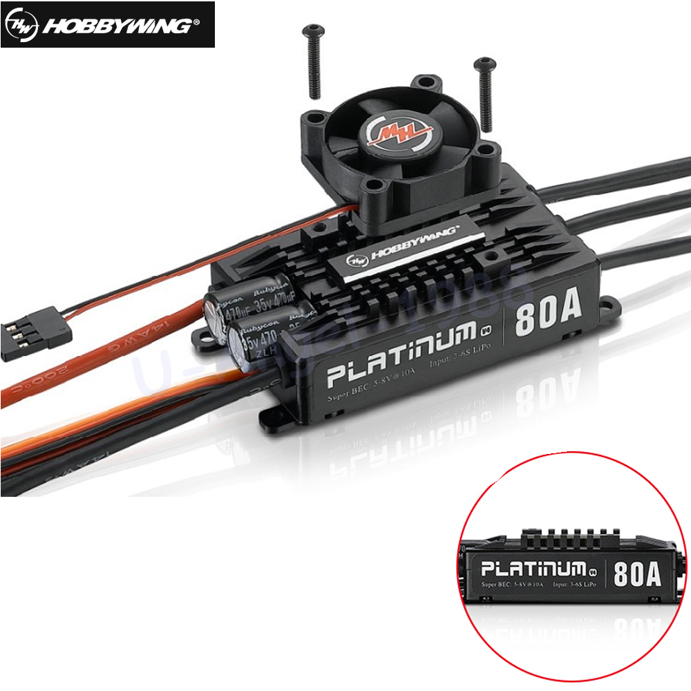 Original Hobbywing Platinum Pro V4 80A 3-6S Lipo BEC Empty Mold Brushless ESC for RC Drone Aircraft HelicopterOriginal Hobbywing Platinum Pro V4 80A 3-6S Lipo BEC Empty Mold Brushless ESC for RC Drone Aircraft Helicopter