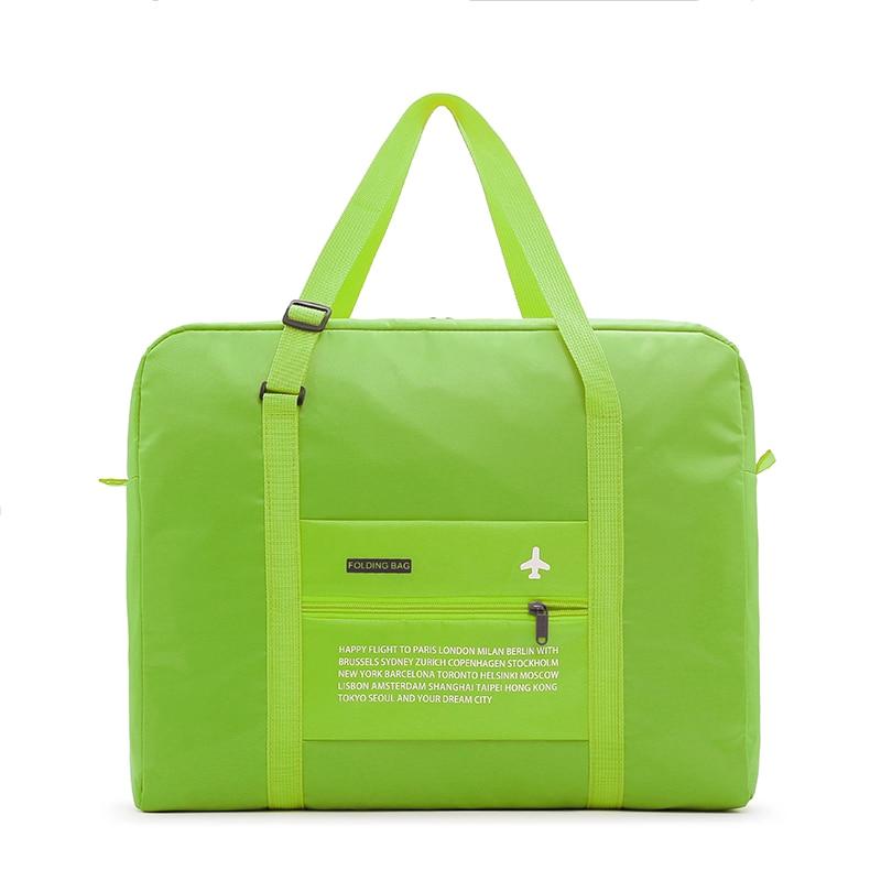 2018 bolsas de viaje impermeable plegable bolsa de gran capacidad equipaje bolso las mujeres plegable de Nylon bolsa de bolsos envío gratis