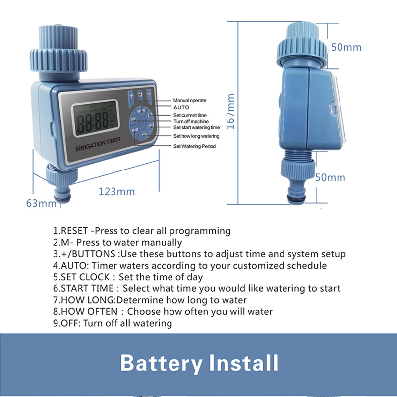Automatic Electronic Smart Digital Water Timer Irrigation Controller System Garden Watering Timer Home 003