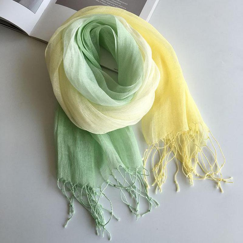 Unisex Style Spring Summer Autumn Winter Scarf Cotton And Linen Solid Color Long Women's Scarves Shawl Fashion Men Scarf