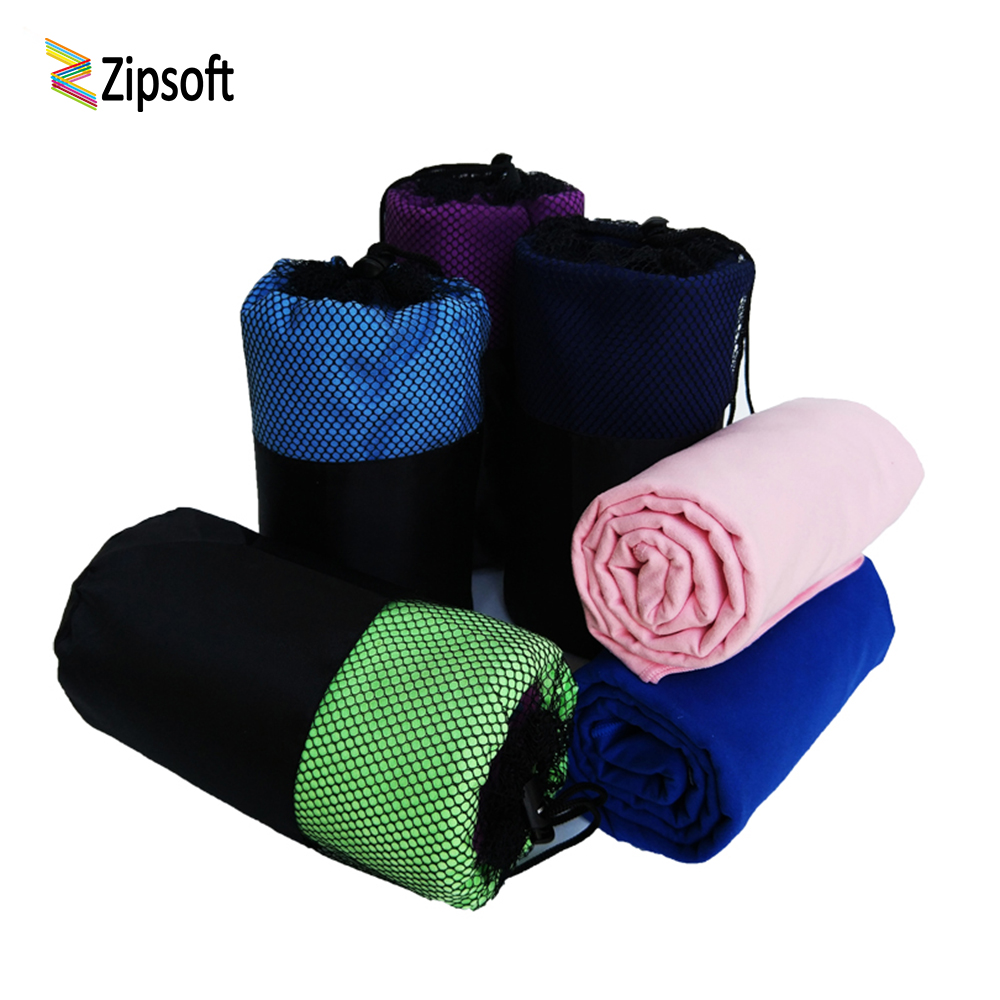 Zipsoft Microfiber Beach towel 2018 Adult Fast Dry Travel Sports Hotel Swimming Pool Camp Bath Yoga Mat Hair Dryer Square Fabric