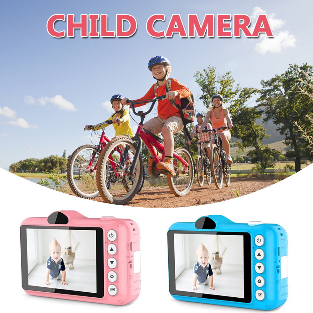 Mini Digital Camera 3.5 Inch Cartoon Cute Camera Toys Children Birthday Gift 1080P Toddler Toys Students Education Video Camera image