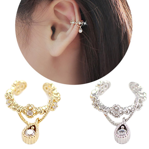 Jewelry & Accessories Punk Trendy Ear Cuff Rhinestone Cartilage Clip Earring Non Piercing For Women 5uel 6hpi 7ism Fine Workmanship Earrings