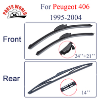 Combo Silicone Rubber Front And Rear Wiper Blades For Peugeot 406 1995 2004 Windscreen Wipers Car