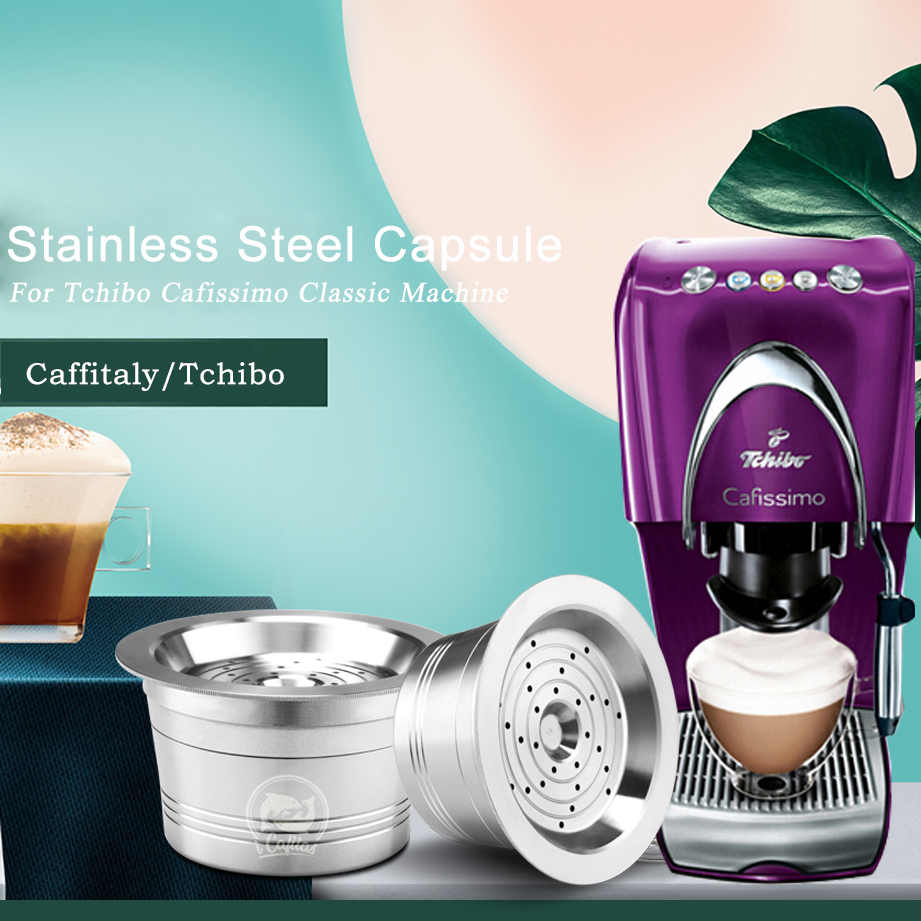 ICafilas ECO STAINLESS STEEL Refillable Cafissimo Classic(B) Coffee Capsule Reusable Filter For  Caffitaly &Tchibo Mahcine|Coffee Filters| |  - title=