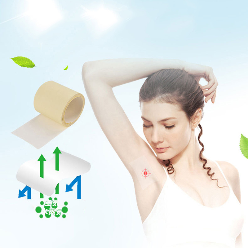 1 Roll Invisiable Armpit Linings Sweat Pads Absorbent Antiperspirant Pads For Underarms Stickers Summer Deodorant For Women