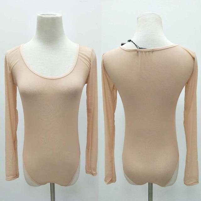 Liva Girl 2019 Nude Mesh Bodysuit Rompers Bodycon Jumpsuit Turtleneck Skinny Bodysuits Transparent New Women Sexy Body Clothing 3