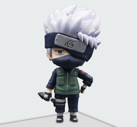10cm Naruto Shippuden Hatake Kakashi Nendoroid 724# Anime Action Figure PVC toys Collection figures for friends gifts 23