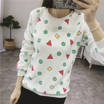 Women Autumn Winter Sweater 2018 Casual Long Sleeve Female Pullover Imperial Crown and Diamond Print Loose Top Women's Clothing
