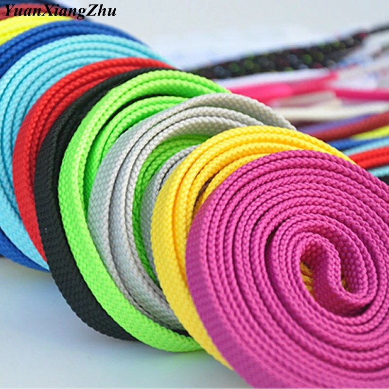 1Pair Double Flat Laces High Quality Polyester Shoelaces Fashion Sports Casual Shoe Lace Solid Shoelace 28Colors