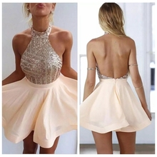 2ede1acdfe Buy short rose gold dress and get free shipping on AliExpress.com