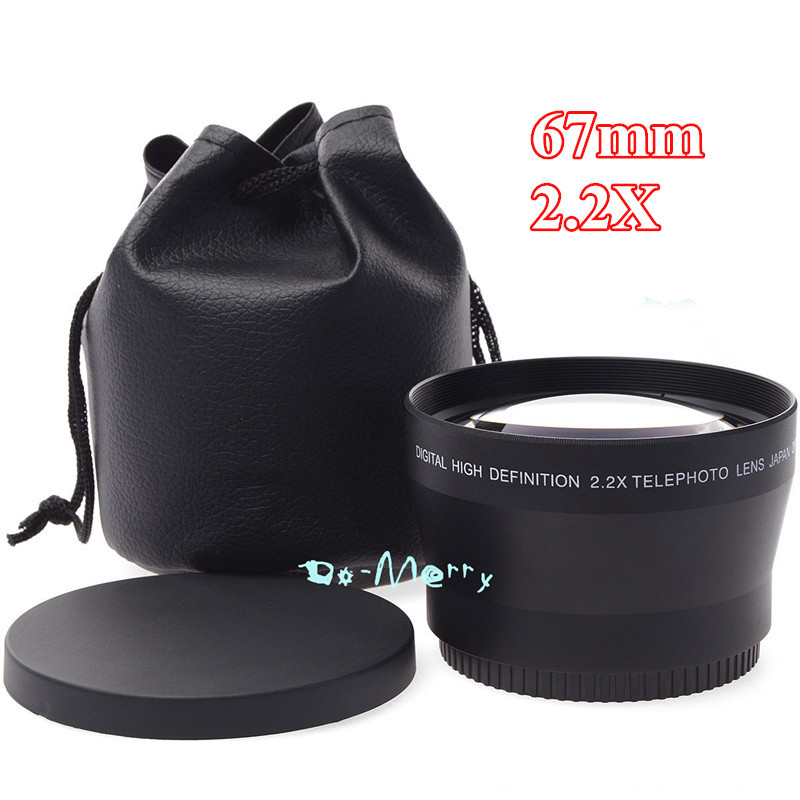 Phot-R 67mm Screw-On Mount Tele Telephoto Metal Lens Hood for Canon Nikon Sony