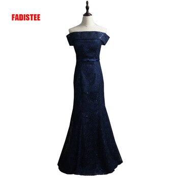 FADISTEE new arrive party prom dress Vestido de Festa boat neck A-line lace lace-up style dress mermaid style trumpet dress