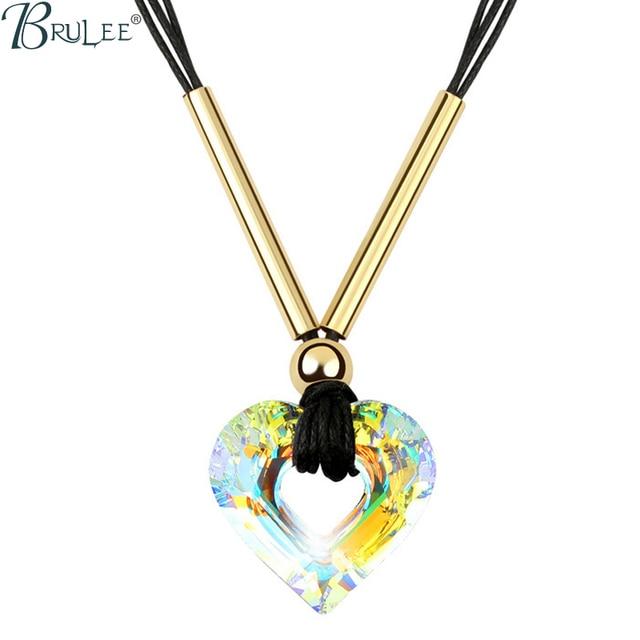 2017 New Fashion Crystal From Swarovski Necklace Heart luxury Selling Romantic pendants women Wedding  jewelry Wholesale