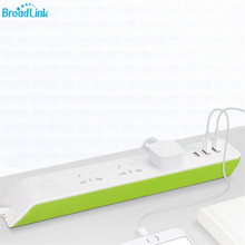 D'origine BroadLink MP2 Smart Wifi Télécommande Plug Power Bande 3USB Ports 2.1A Charge Rapide Pour Android IOS