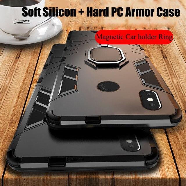 Teléfono móvil F1 caso mi nota 7 7A K20 6 Pro 5 Plus caso armadura Xiaomi mi 9 T mi 9 9 SE jugar mi 8 Lite mi x 2 2 SMax 2 3 6X 5X caso