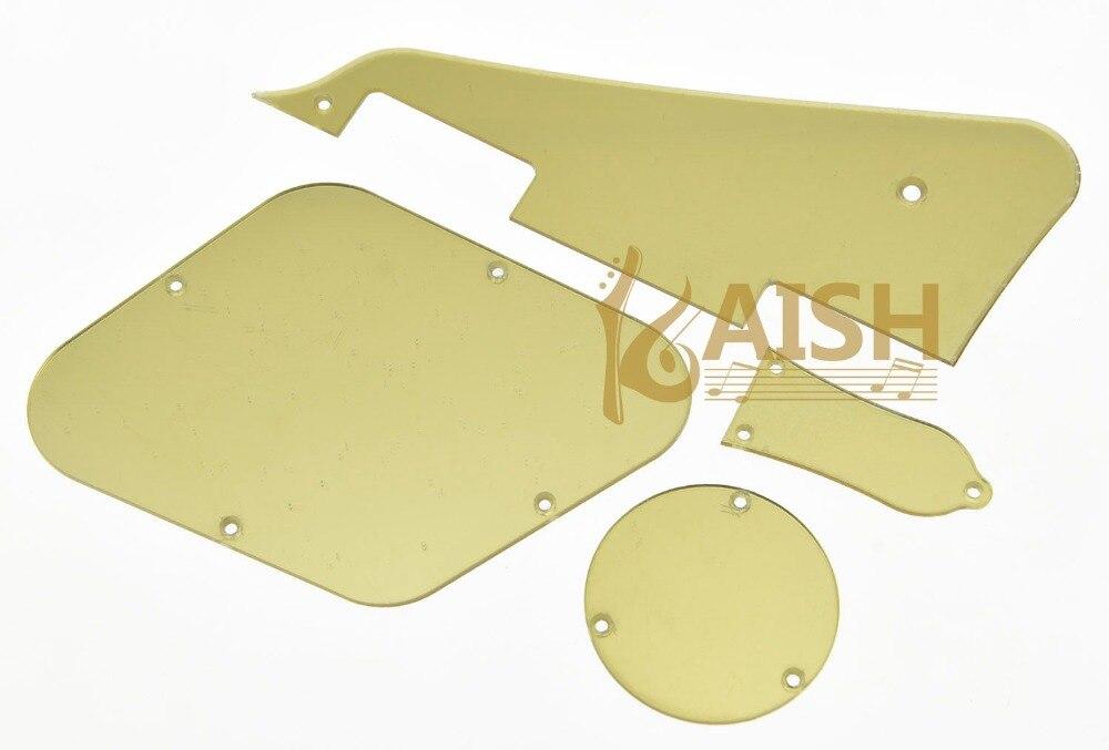 LP Pickguard Cavity Covers Turss Rod Cover Set for Epiphone Les Paul Gold Mirror epiphone ltd matt heafy signature les paul custom ebony