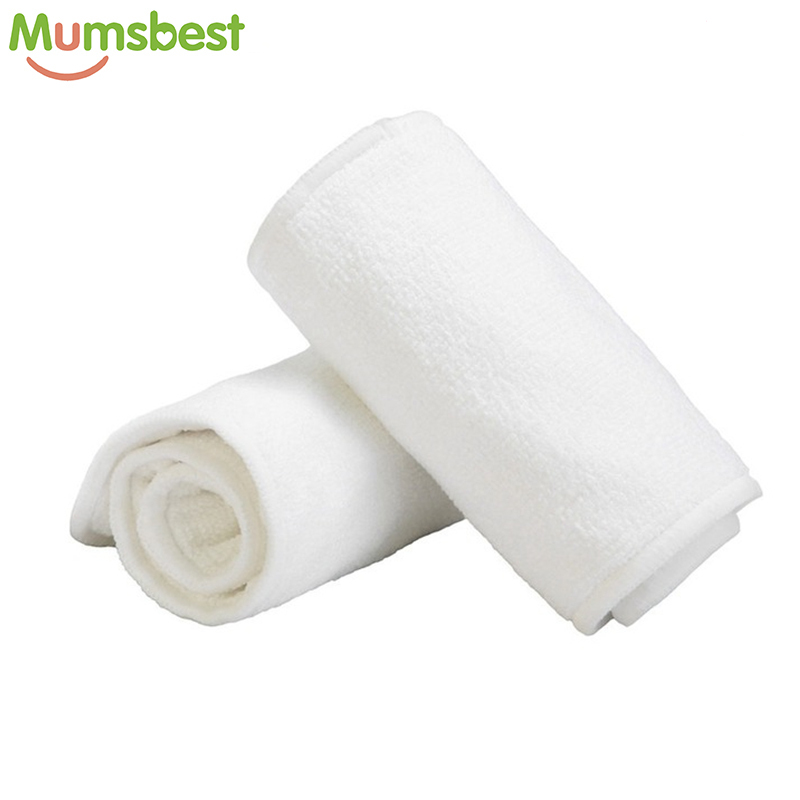 [Mumsbest] Washable Reuseable Baby Cloth Diapers Nappy Inserts Microfiber 3 Layers Easy Use Soft And Breathable Diaper