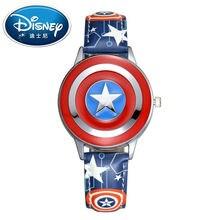 2017 Disney Niños Relojes Relojes de Los Niños Superhéroe Moda Simple Fresco Reloj de Pulsera de Regalo de Los Niños