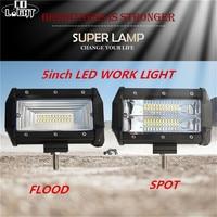 CO LIGHT Led Spot Flood Work Light Bar 72W 5 Inch 8000LM IP68 Voiture For All