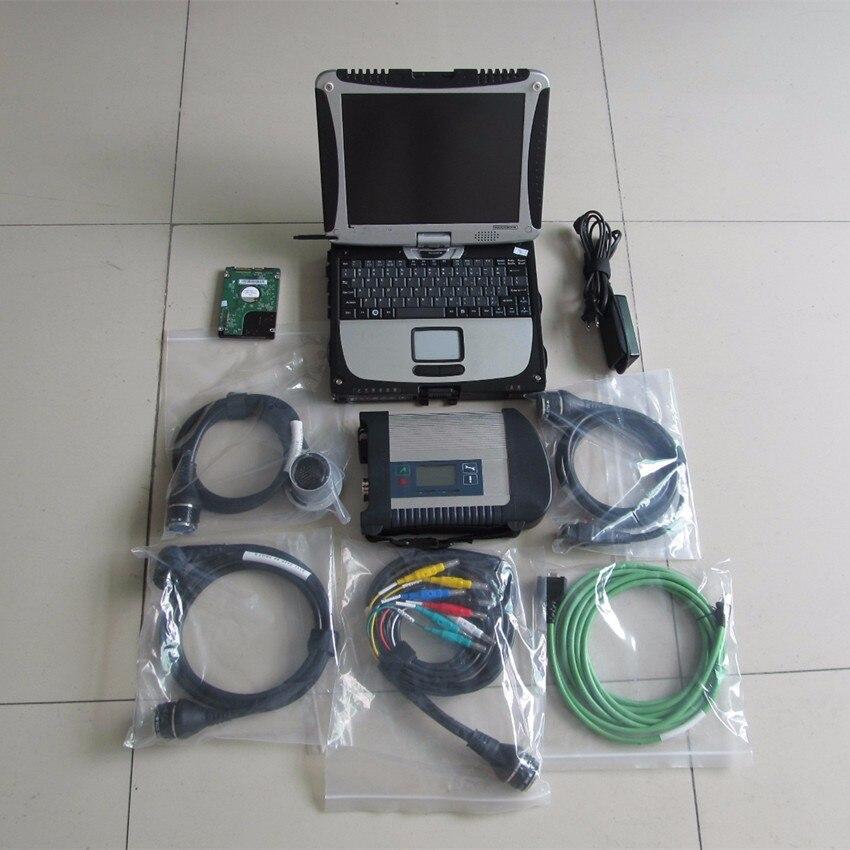 Mb étoile c4 sd connecter avec 2018.12 logiciel avec cf19 ordinateur portable toughbook mb étoile c4 sd connect c4 outil diagnostiquer prêt à utiliser