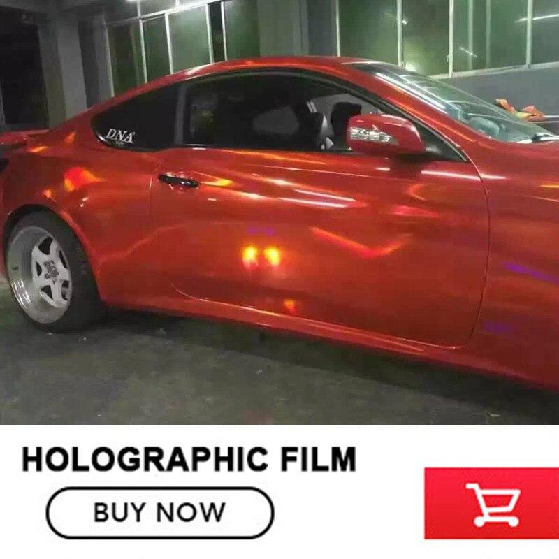 OPLARE Red Laser Chrome Holographic Rainbow Car Wrap Vinyl Sticker With Bubble Free 1.52x20m/roll Free Shipping самокат novatrack rainbow 120 red складной 120rainbow rd7