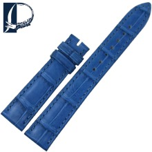Pesno Watch Strap Blue Alligator Skin Leather Watch Band Beautiful Blue Women Watch Accessories 16mm