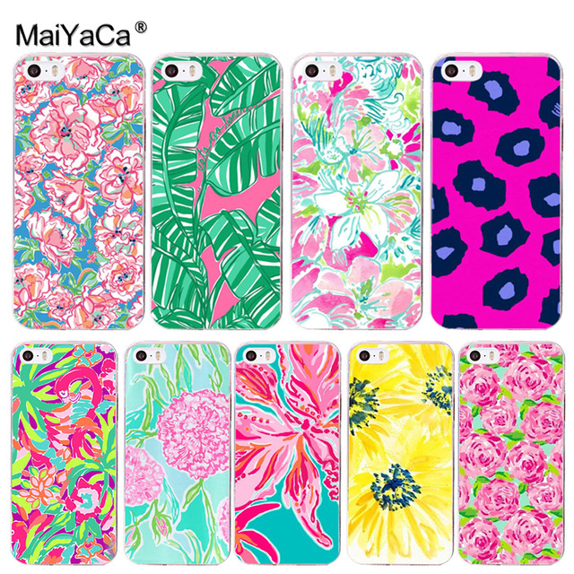 separation shoes 3c2a2 765a2 US $2.19 |MaiYaCa Lilly Pulitzer Summer flower Pink Phone Accessories Case  for iPhone 8 7 6 6S Plus X 10 5 5S SE XS XR XS MAX Coque Shell-in ...