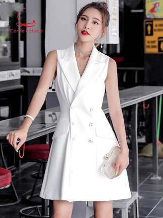 The long version of the dress is Korean new spring 2019 womens fashion slim style