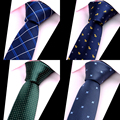 New Fashion Brand Mens Ties Man Fashion Neckties Corbatas Hombre Gravata Jacquard 6cm Slim Tie Business Red Green Tie For Men