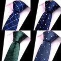 Nova Marca de Moda Mens Ties Man Moda Gravatas Corbatas Hombre Laço do Negócio Gravata Jacquard 6 cm Fino Vermelho Laço Verde Para homens